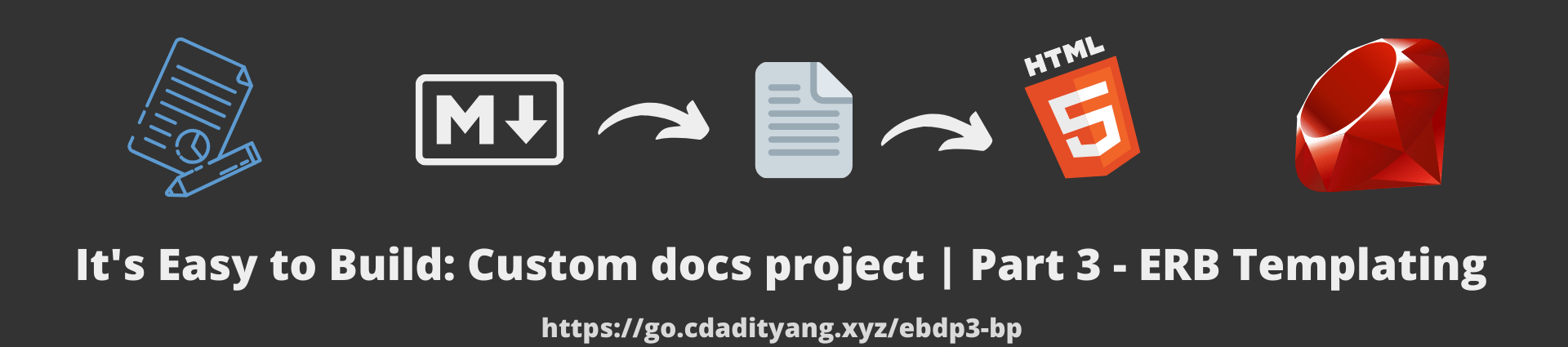 It's Easy to Build: Custom docs project | Part 3 - ERB templating